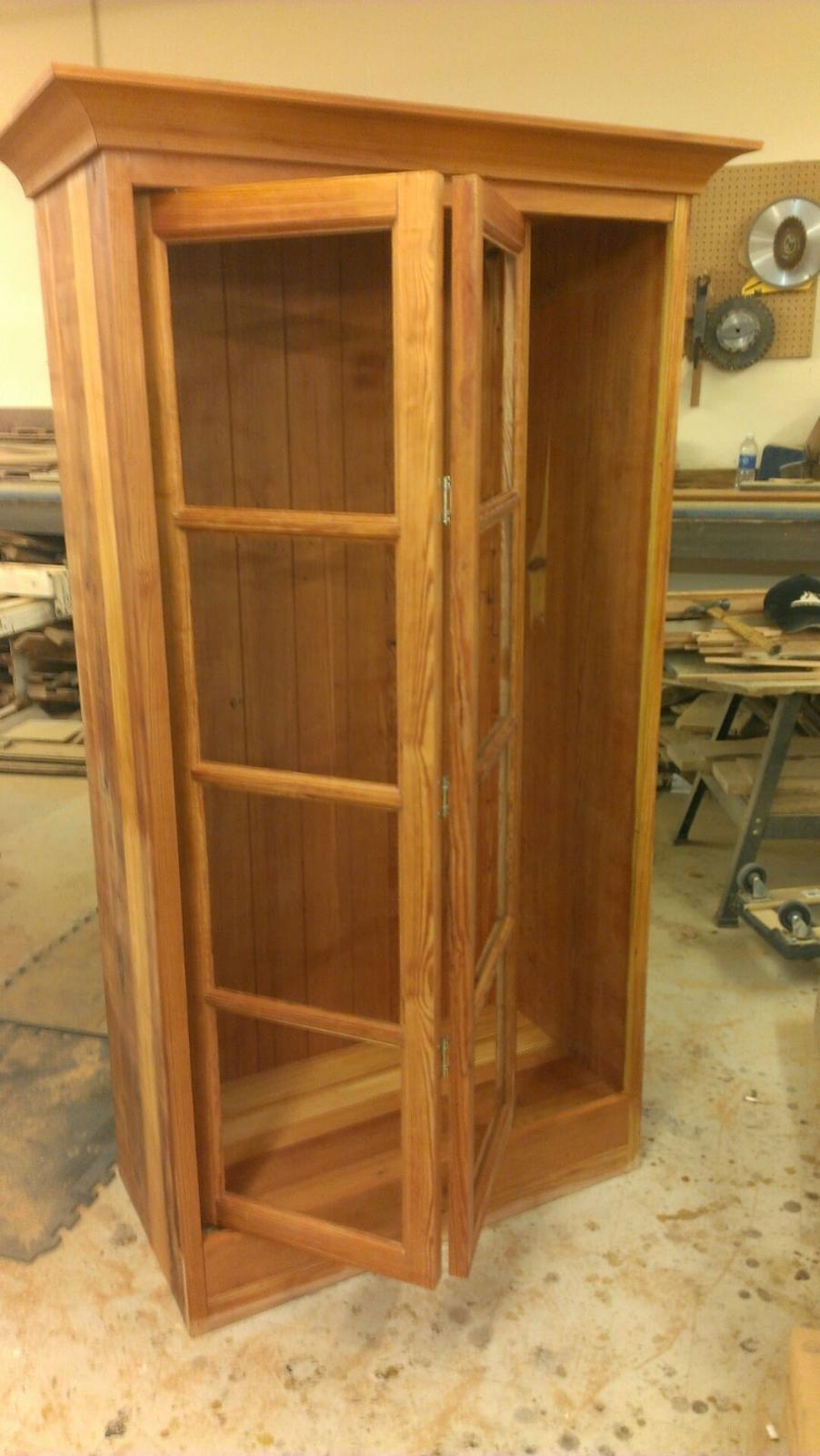 Cabinets Made From Heart Pine Wood